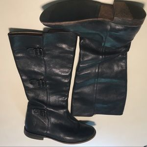 Frye Paige Buckle Pull-On Fall Riding Boots 7B